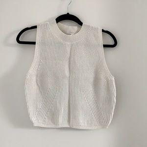 Aritzia cotton knit crop vest